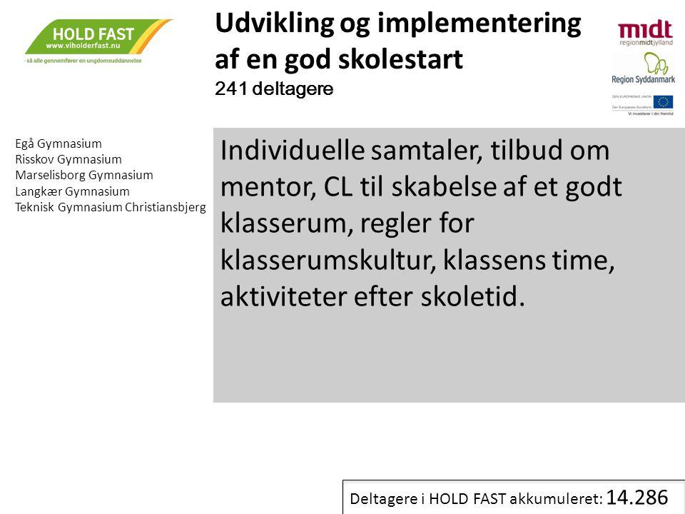 Udvikling og implementering af en god skolestart