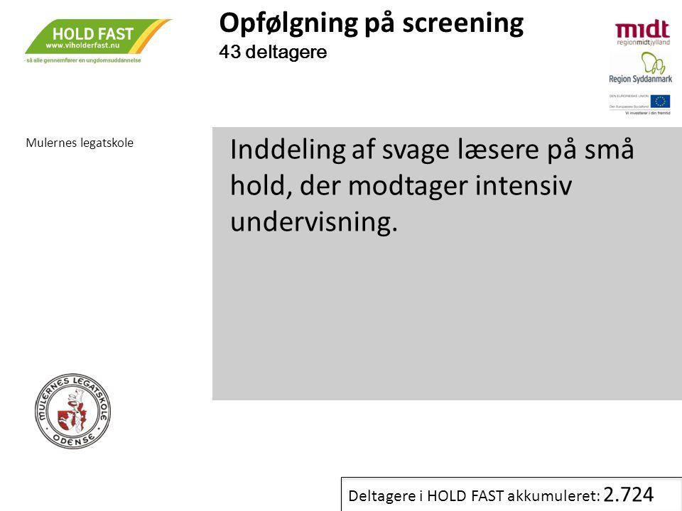 Opfølgning på screening