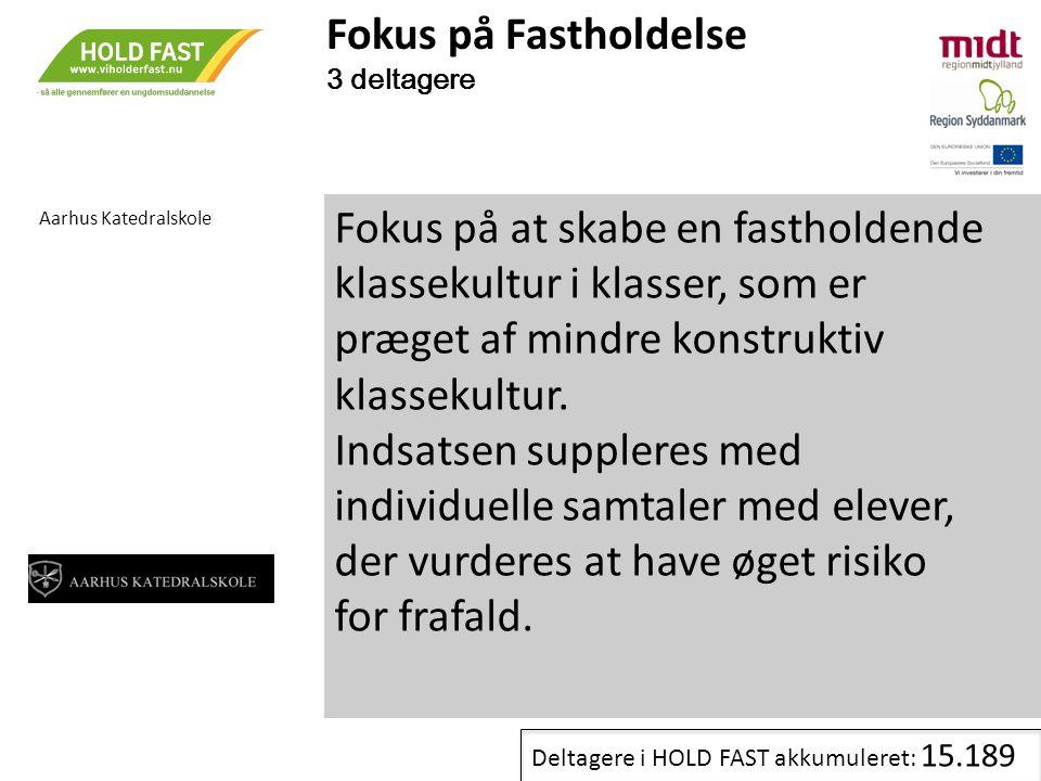 Fokus på Fastholdelse 3 deltagere. Aarhus Katedralskole.