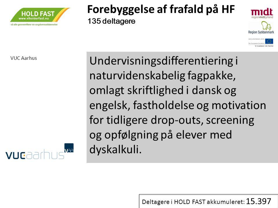 Forebyggelse af frafald på HF 135 deltagere