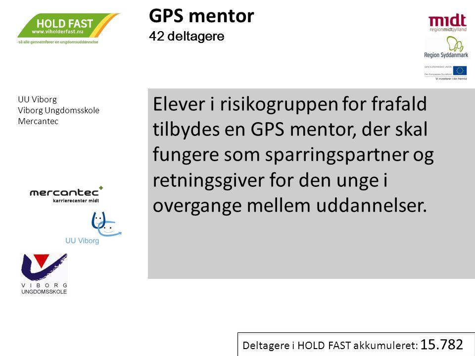 GPS mentor 42 deltagere. . UU Viborg. Viborg Ungdomsskole. Mercantec.