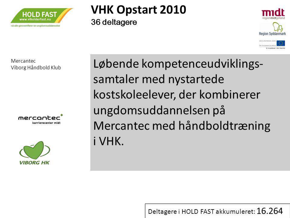 VHK Opstart 2010 36 deltagere. Mercantec. Viborg Håndbold Klub.
