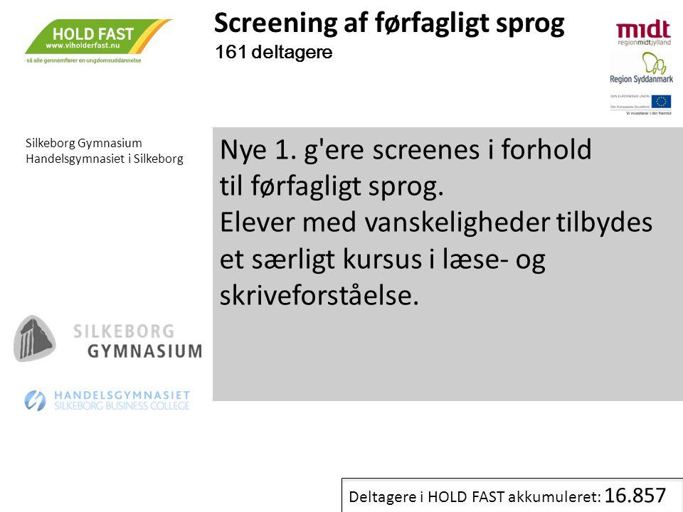 Screening af førfagligt sprog 161 deltagere