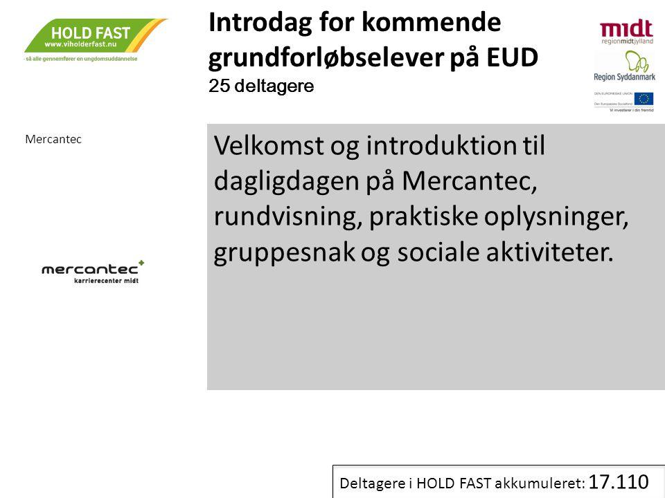 Introdag for kommende grundforløbselever på EUD