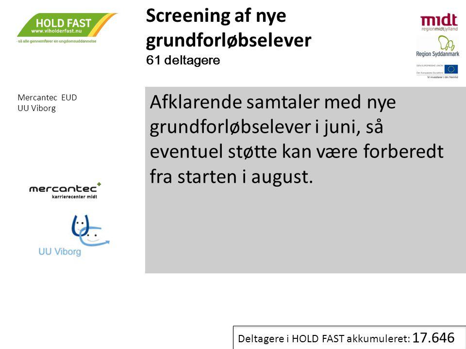 Screening af nye grundforløbselever