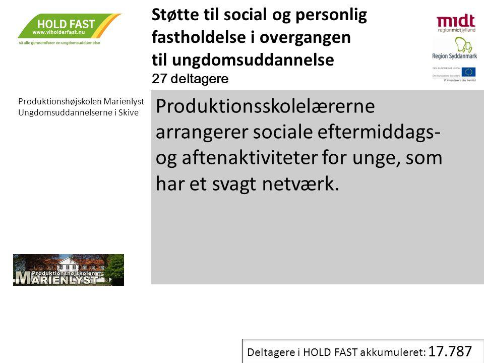 Støtte til social og personlig fastholdelse i overgangen