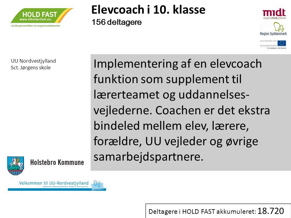 Elevcoach i 10. klasse 156 deltagere. UU Nordvestjylland. Sct. Jørgens skole.
