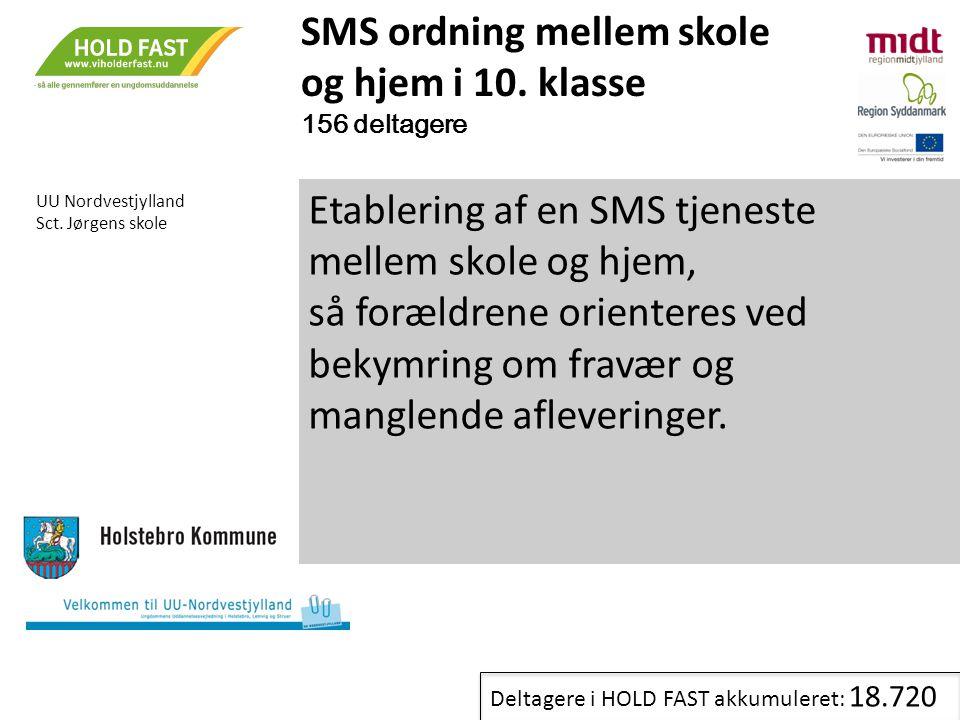 SMS ordning mellem skole og hjem i 10. klasse