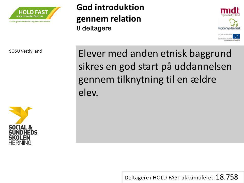 God introduktion gennem relation. 8 deltagere. SOSU Vestjylland.