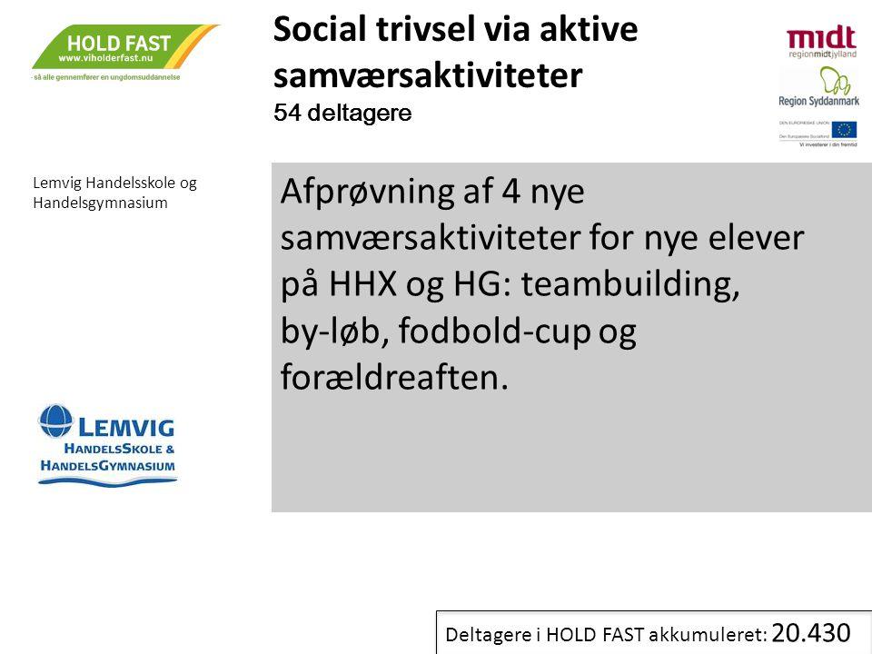 Social trivsel via aktive samværsaktiviteter