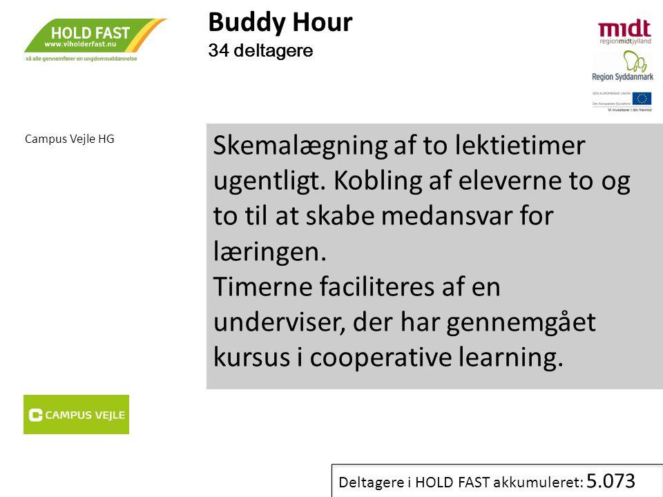 Buddy Hour 34 deltagere. Campus Vejle HG.