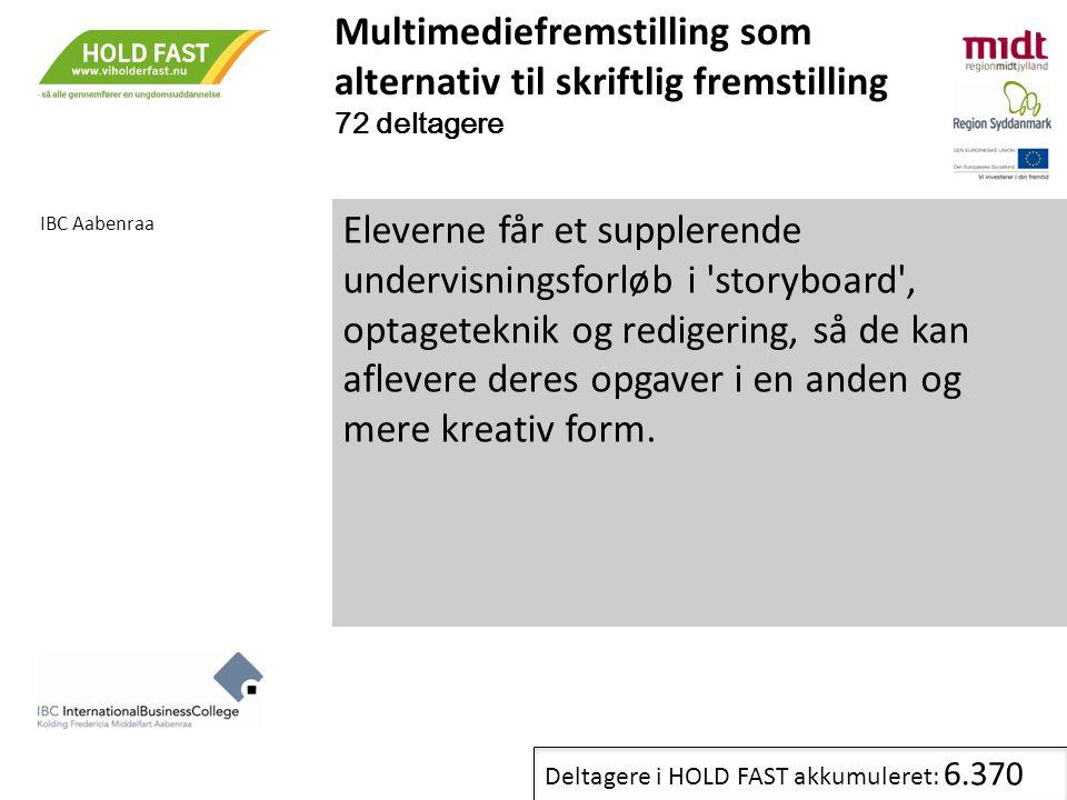 Multimediefremstilling som alternativ til skriftlig fremstilling