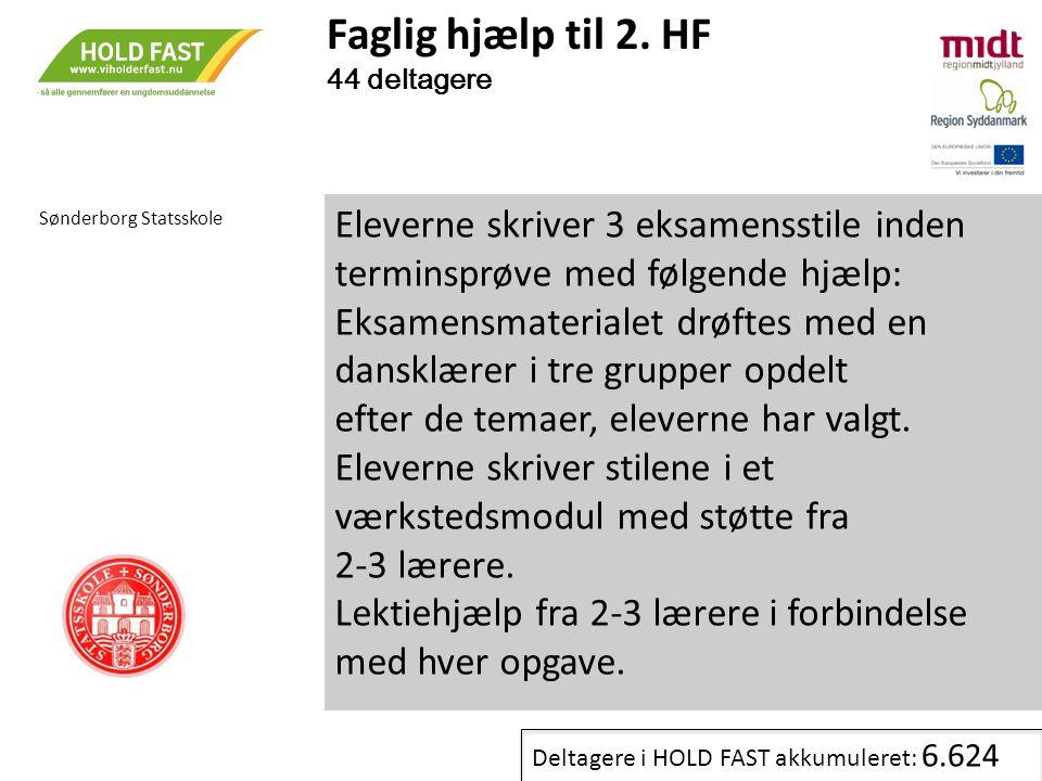 Faglig hjælp til 2. HF 44 deltagere. Sønderborg Statsskole.