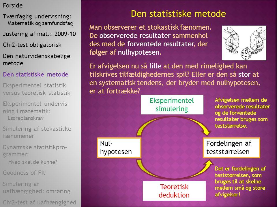 Den statistiske metode