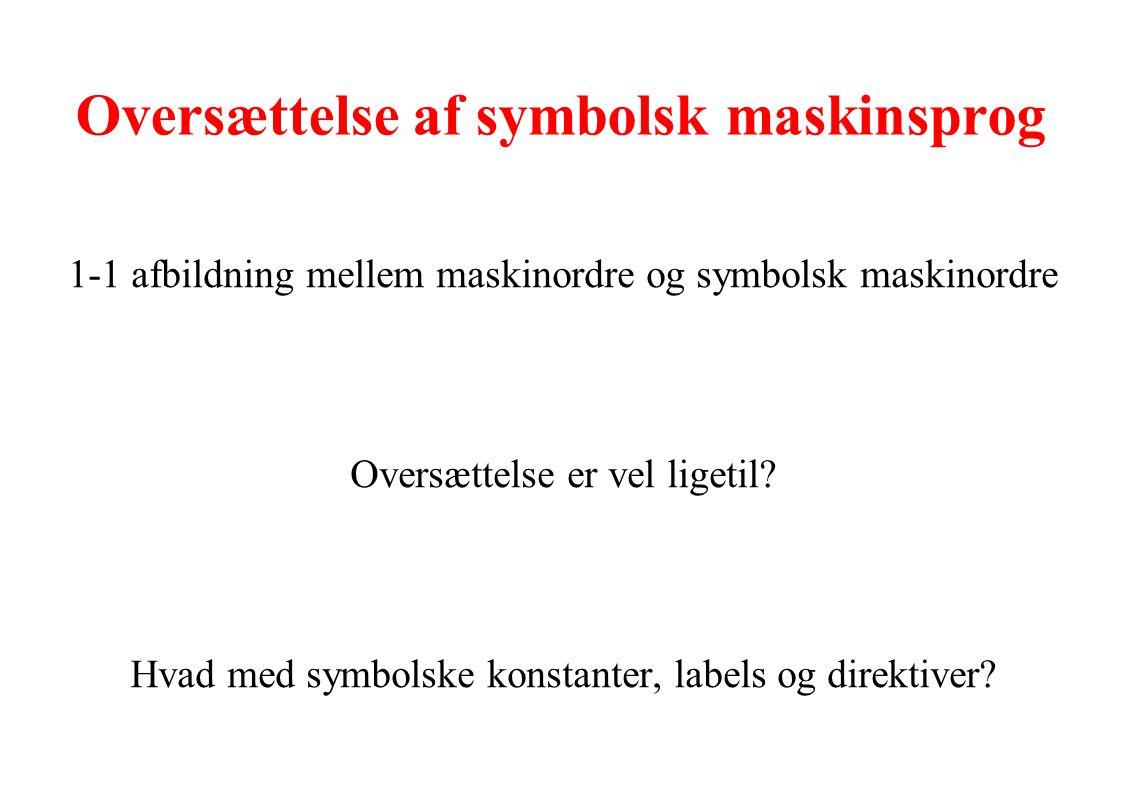 Oversættelse af symbolsk maskinsprog