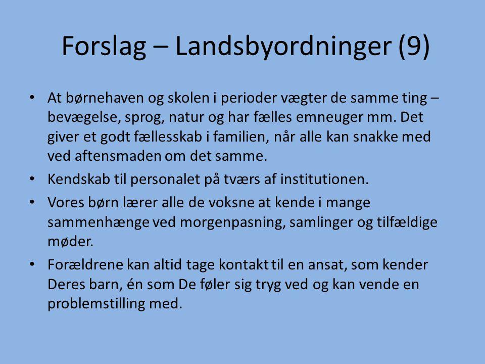 Forslag – Landsbyordninger (9)