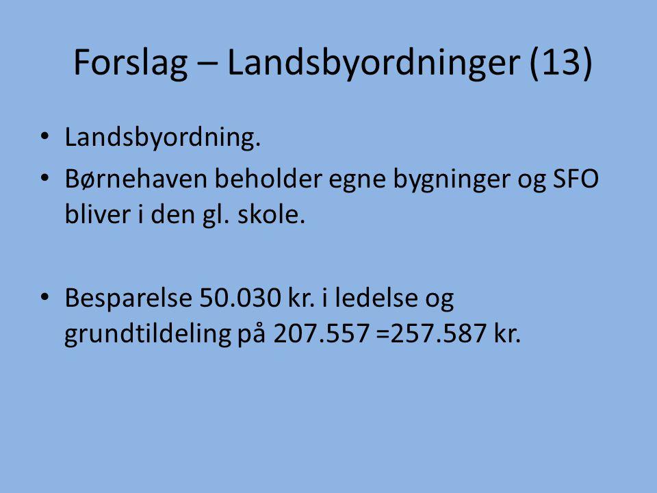 Forslag – Landsbyordninger (13)