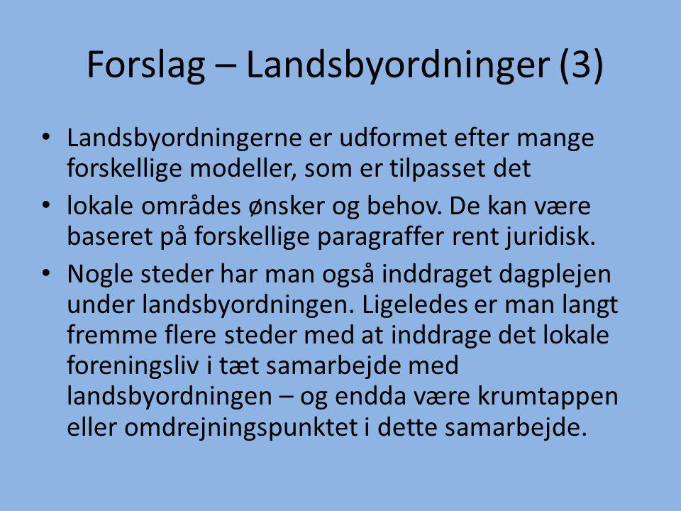 Forslag – Landsbyordninger (3)