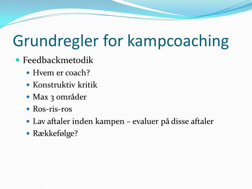 Grundregler for kampcoaching