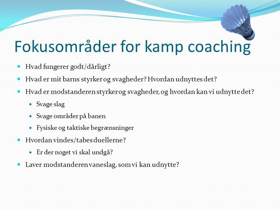 Fokusområder for kamp coaching