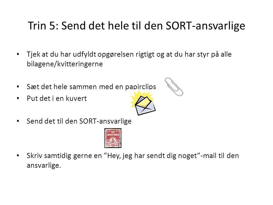 Trin 5: Send det hele til den SORT-ansvarlige