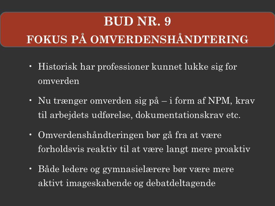 FOKUS PÅ OMVERDENSHÅNDTERING
