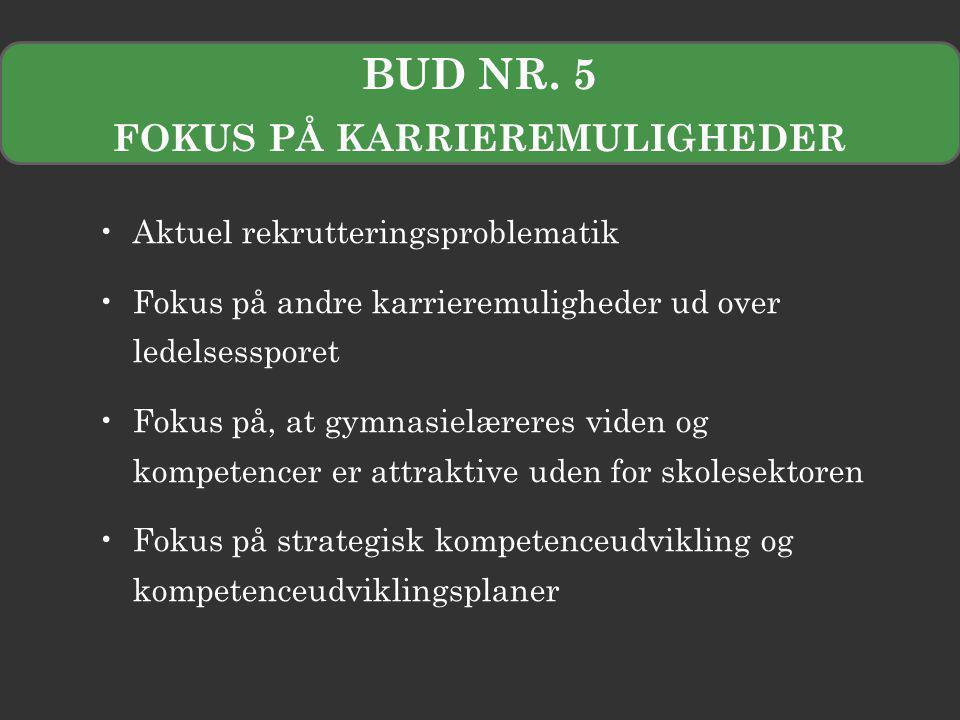 FOKUS PÅ KARRIEREMULIGHEDER