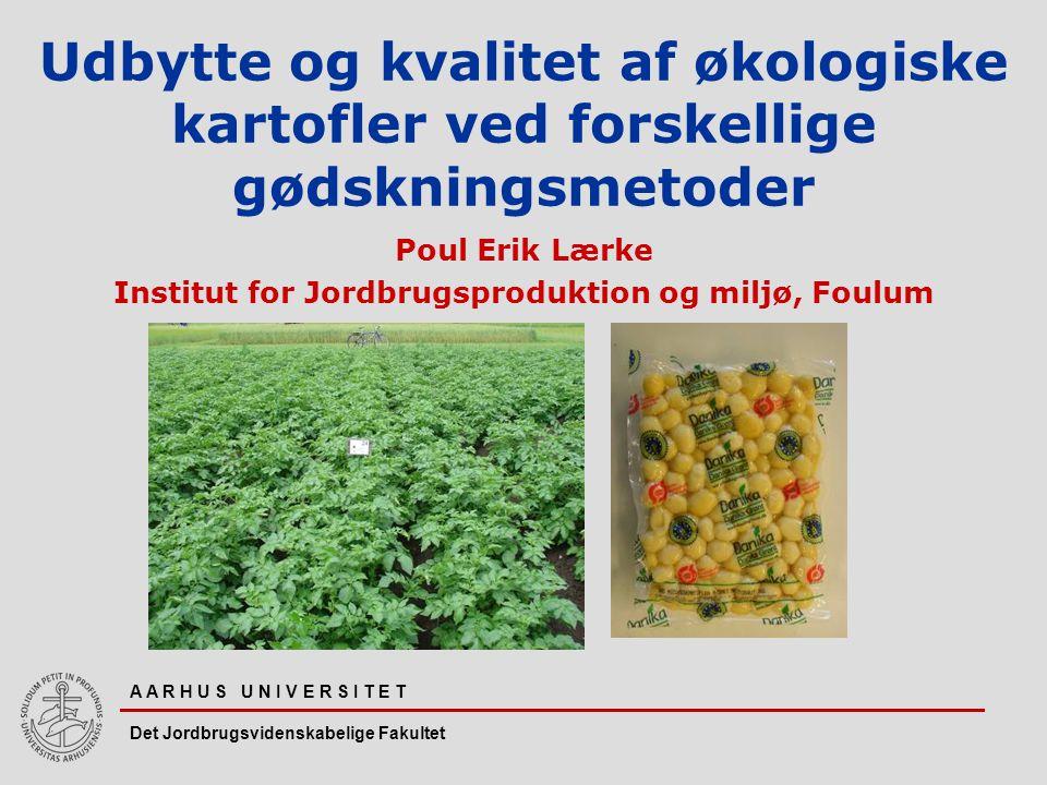 Poul Erik Lærke Institut for Jordbrugsproduktion og miljø, Foulum