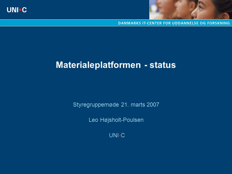 Materialeplatformen - status