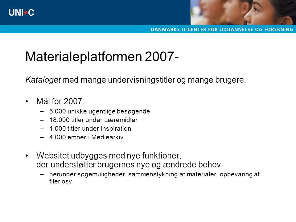 Materialeplatformen 2007-
