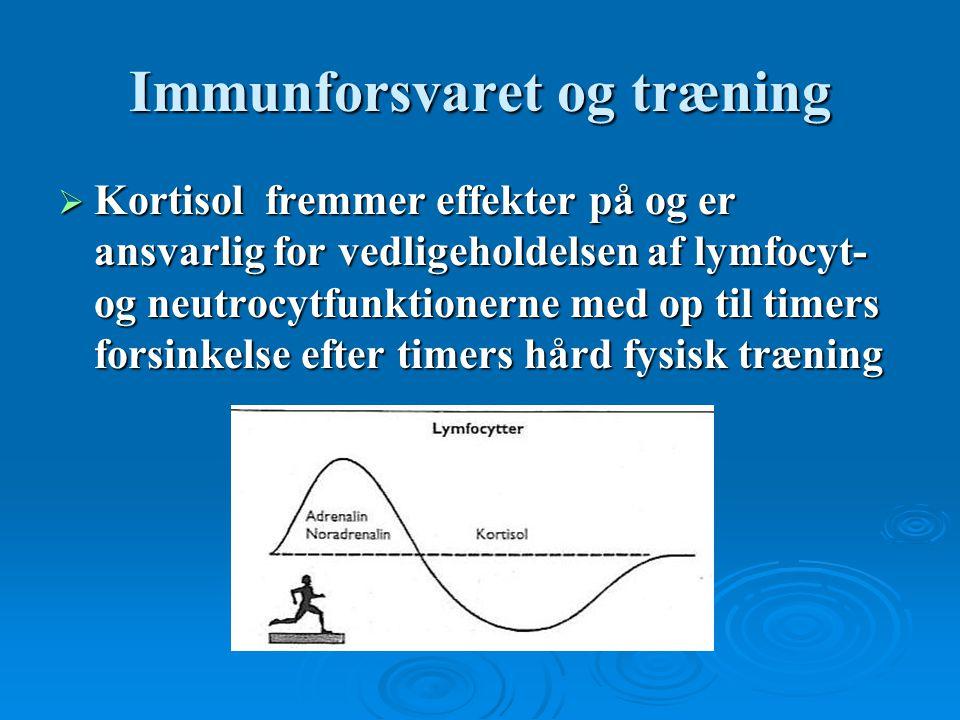 Immunforsvaret og træning