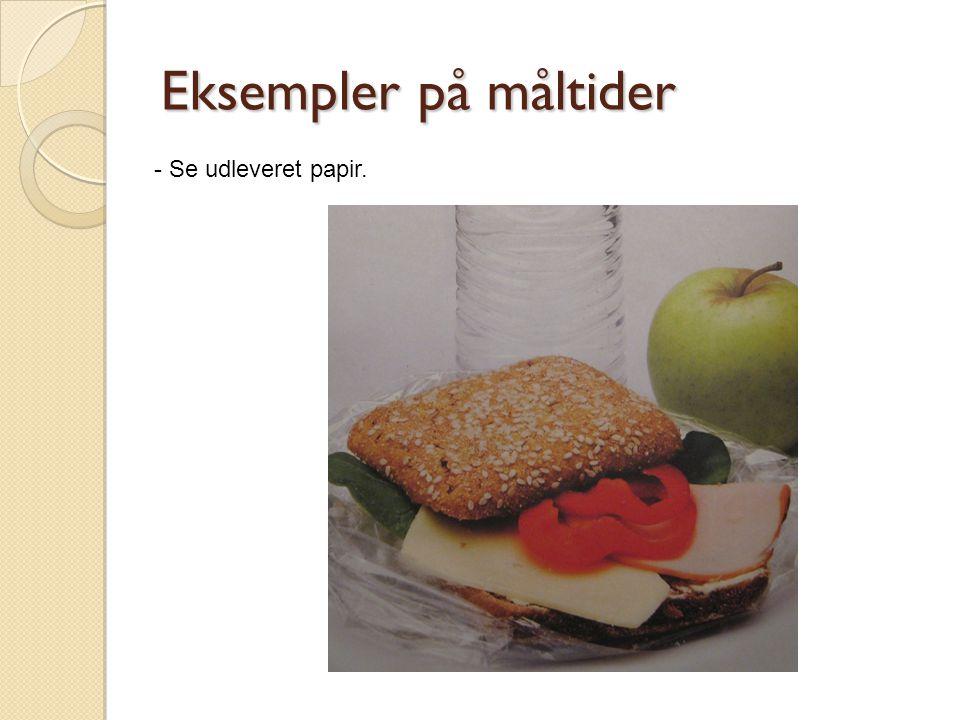 Eksempler på måltider - Se udleveret papir.