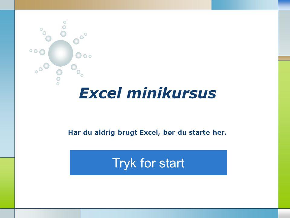 Har du aldrig brugt Excel, bør du starte her.