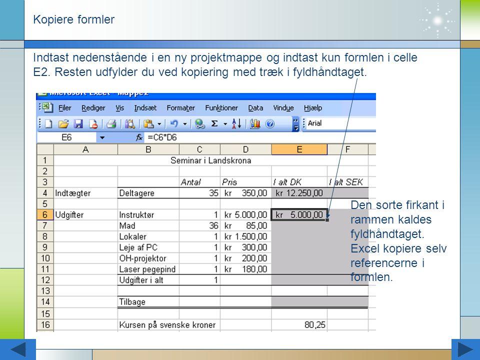 Kopiere formler