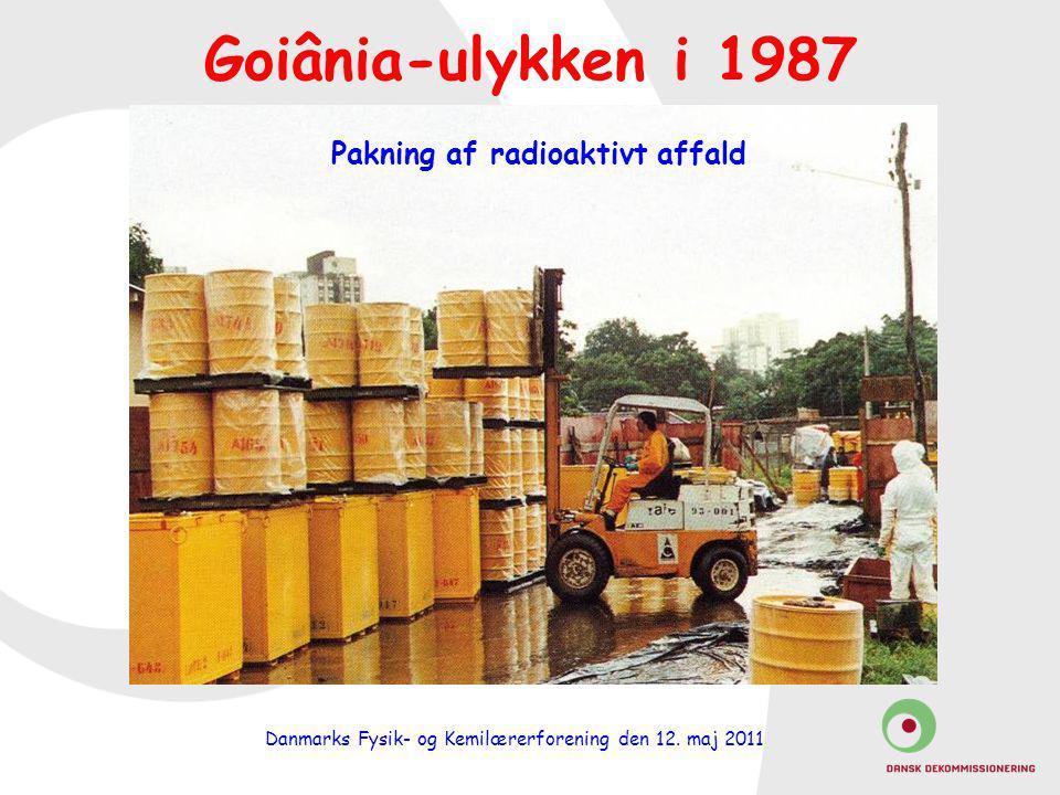 Pakning af radioaktivt affald