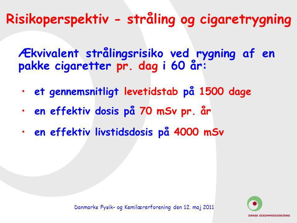 Risikoperspektiv - stråling og cigaretrygning