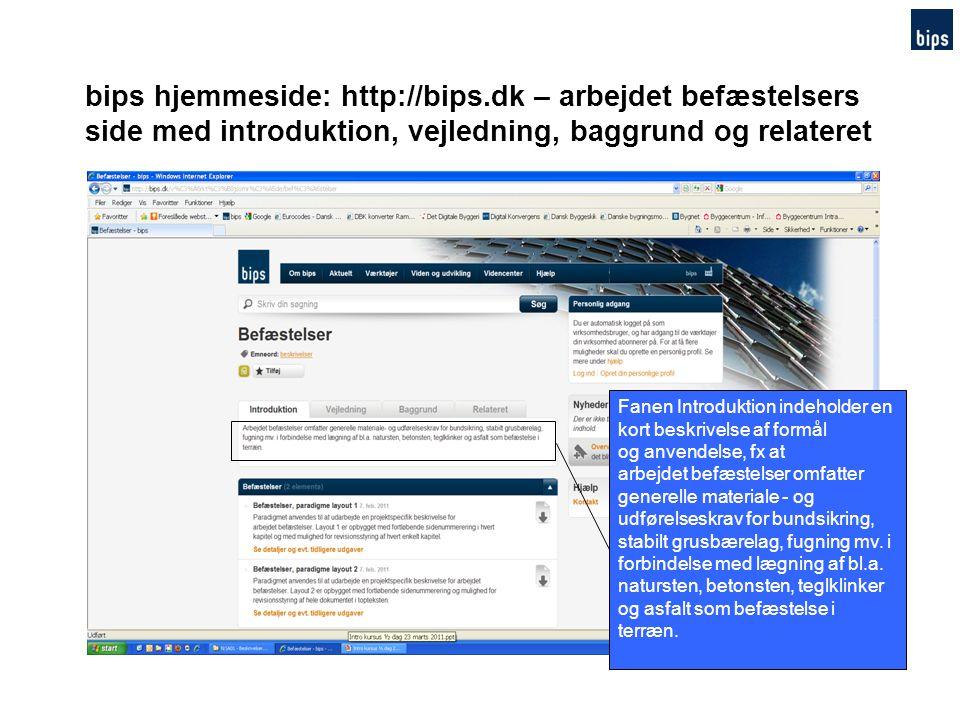 bips hjemmeside: http://bips.dk – arbejdet befæstelsers