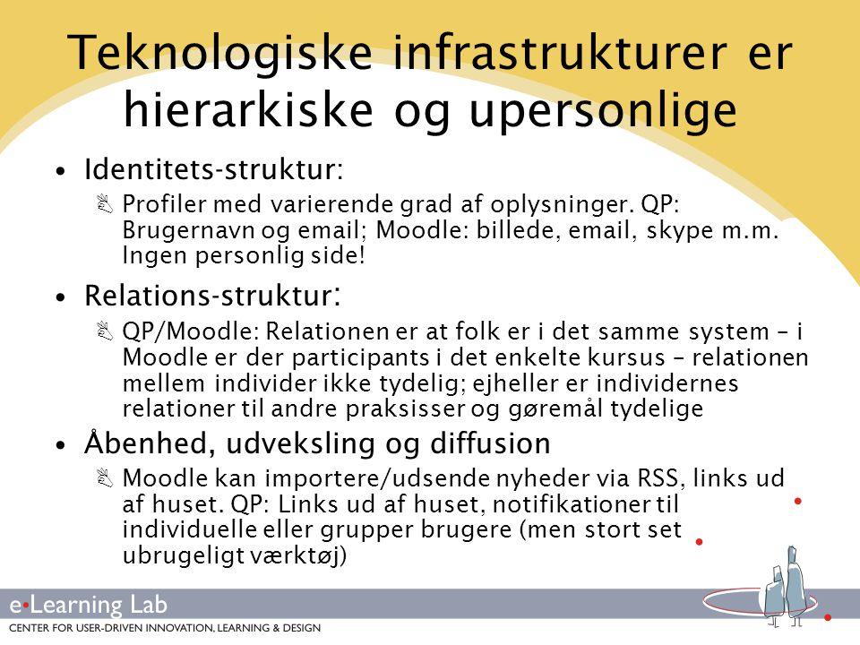 Teknologiske infrastrukturer er hierarkiske og upersonlige