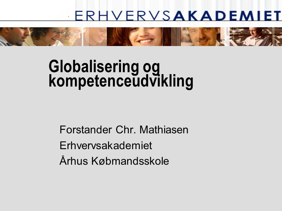 Globalisering og kompetenceudvikling