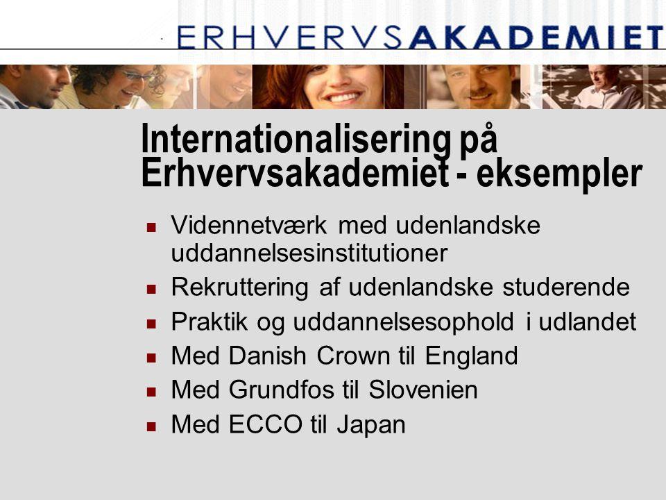 Internationalisering på Erhvervsakademiet - eksempler