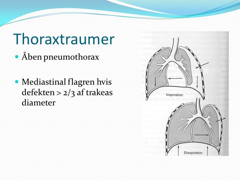 Thoraxtraumer Åben pneumothorax