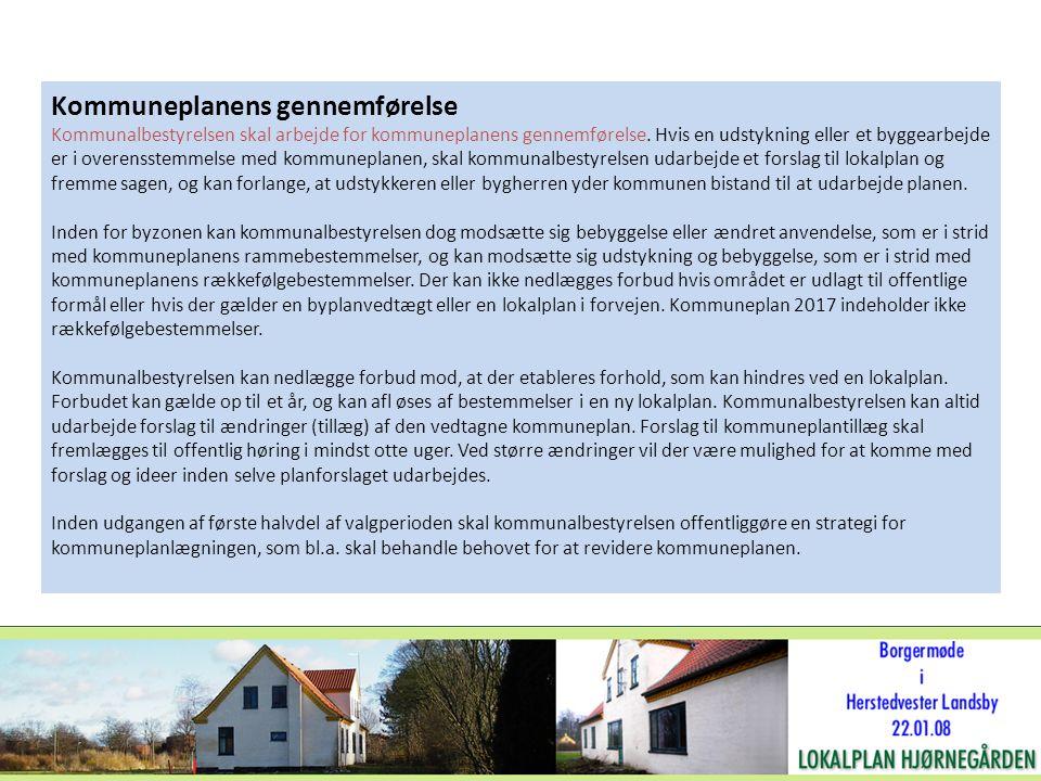Kommuneplanens gennemførelse