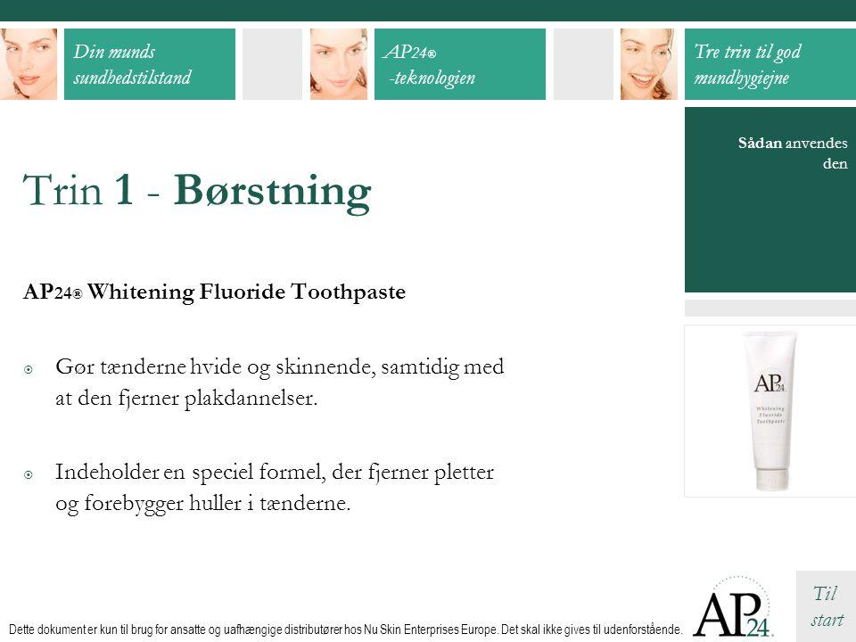 Trin 1 - Børstning AP24® Whitening Fluoride Toothpaste