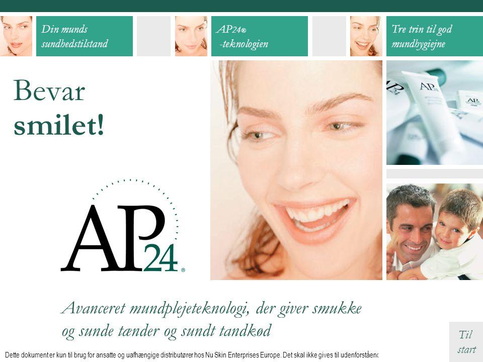 Bevar smilet! Avanceret mundplejeteknologi, der giver smukke og sunde tænder og sundt tandkød