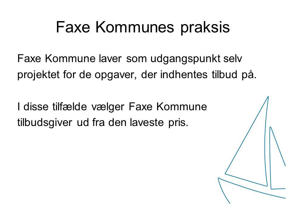 Faxe Kommunes praksis Faxe Kommune laver som udgangspunkt selv