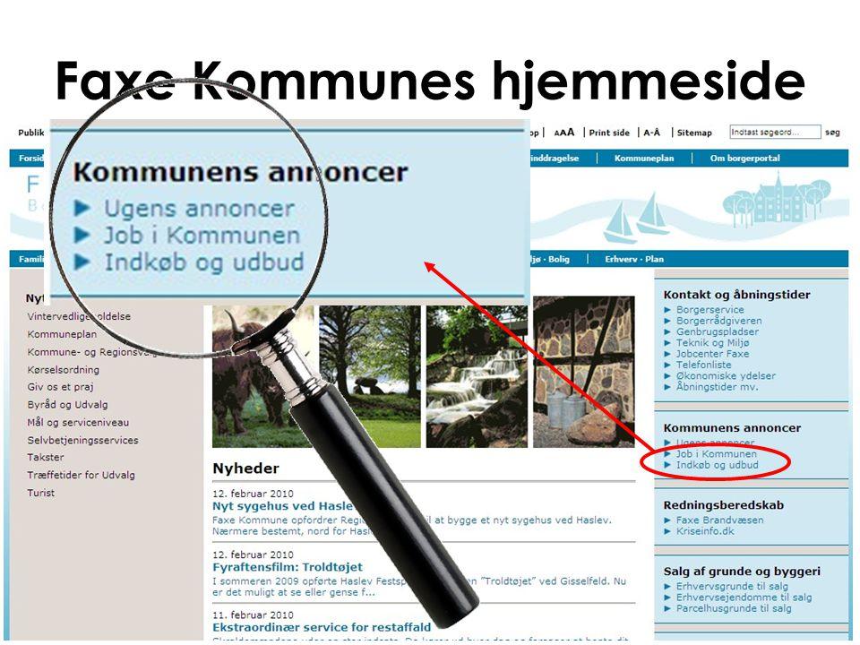 Faxe Kommunes hjemmeside