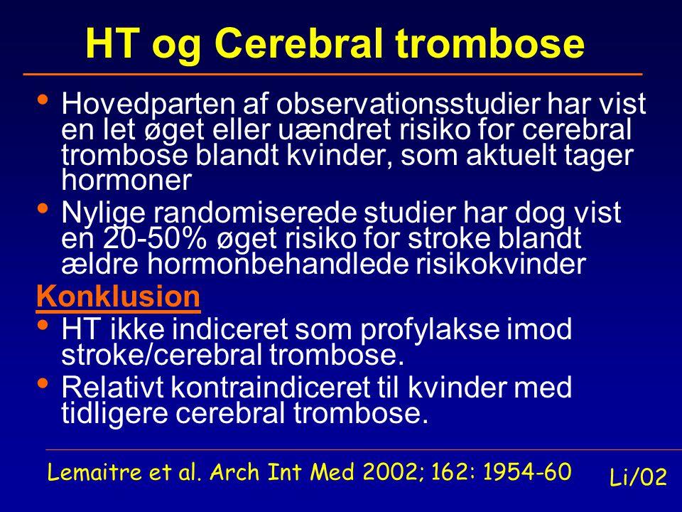 HT og Cerebral trombose