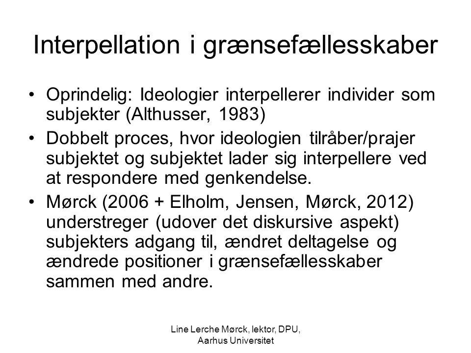 Interpellation i grænsefællesskaber