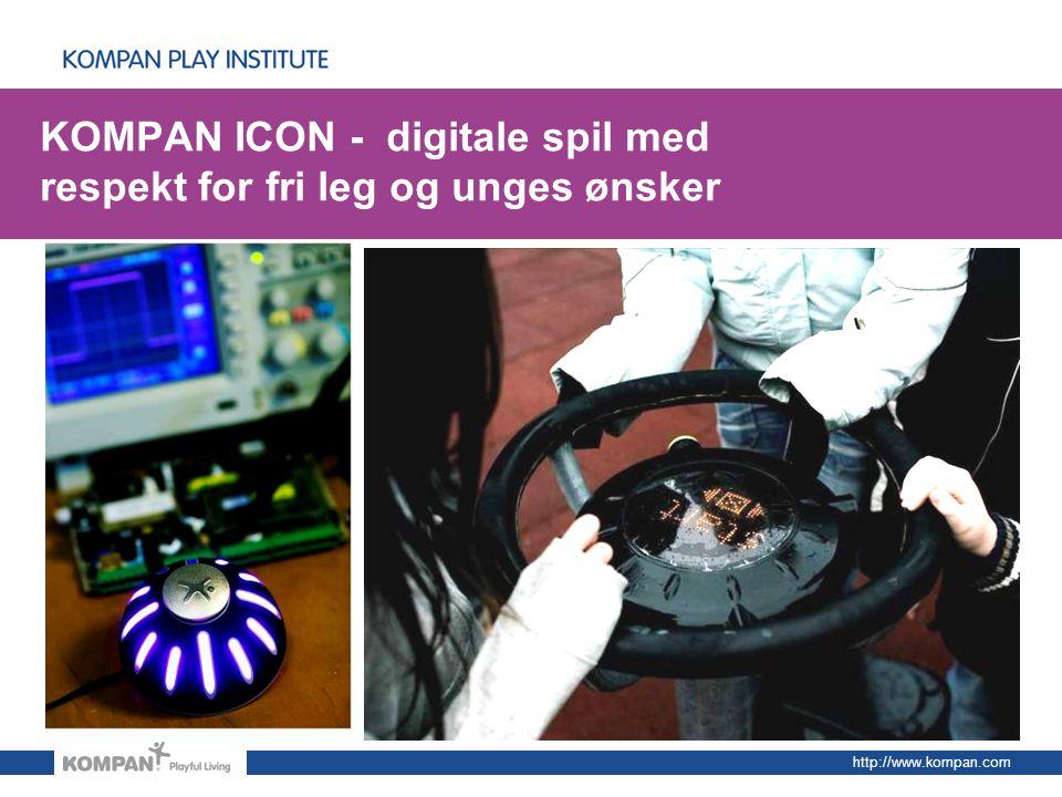 KOMPAN ICON - digitale spil med respekt for fri leg og unges ønsker