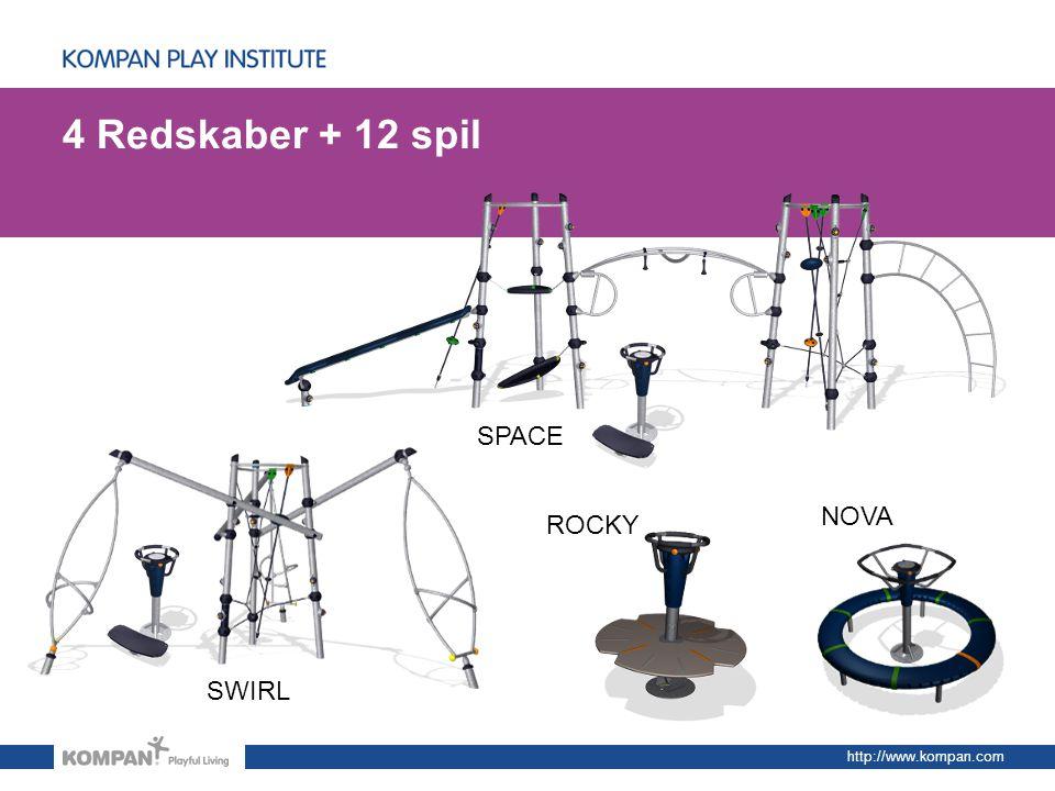 4 Redskaber + 12 spil SPACE NOVA ROCKY SWIRL